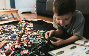 Future Engineer Playing with Lego